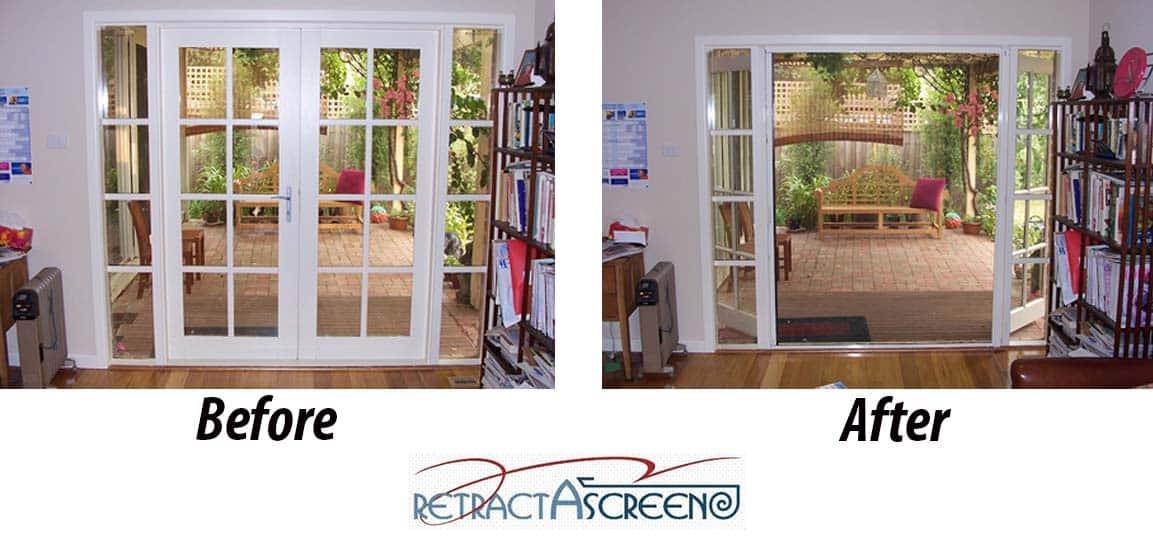 Double Door Retractascreen